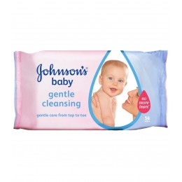 JOHNSONS BABY drėgnos servetėlės GENTLE CLEANSING, 56 vnt.